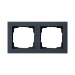GIRA Afdekraam 2-Voudig E2 Zwart mat